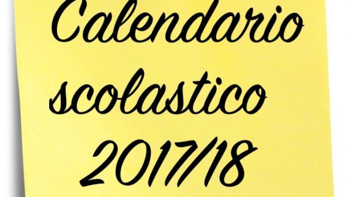 Calendario scolastico 2017/18